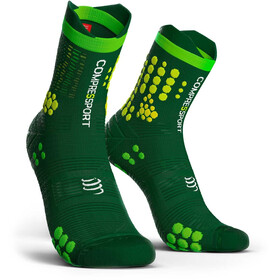 Compressport Pro Racing V3.0 Trail juoksusukat , vihreä